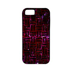Woven1 Black Marble & Burgundy Marble (r) Apple Iphone 5 Classic Hardshell Case (pc+silicone) by trendistuff