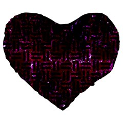 Woven1 Black Marble & Burgundy Marble (r) Large 19  Premium Heart Shape Cushions by trendistuff