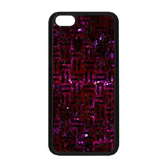 Woven1 Black Marble & Burgundy Marble (r) Apple Iphone 5c Seamless Case (black) by trendistuff