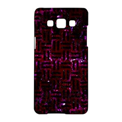 Woven1 Black Marble & Burgundy Marble (r) Samsung Galaxy A5 Hardshell Case  by trendistuff