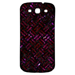 Woven2 Black Marble & Burgundy Marble Samsung Galaxy S3 S Iii Classic Hardshell Back Case by trendistuff