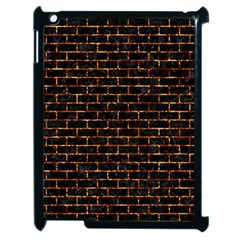 Brick1 Black Marble & Copper Foilper Foil Apple Ipad 2 Case (black) by trendistuff