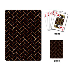 Brick2 Black Marble & Copper Foil Playing Card by trendistuff