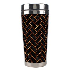 Brick2 Black Marble & Copper Foil Stainless Steel Travel Tumblers by trendistuff