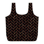 BRICK2 BLACK MARBLE & COPPER FOIL Full Print Recycle Bags (L)  Back