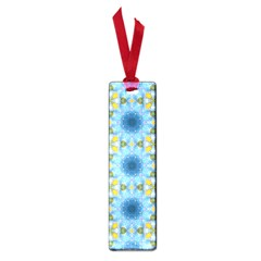 Blue Nice Daisy Flower Ang Yellow Squares Small Book Marks by MaryIllustrations