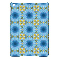 Blue Nice Daisy Flower Ang Yellow Squares Ipad Air Hardshell Cases by MaryIllustrations