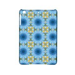 Blue Nice Daisy Flower Ang Yellow Squares Ipad Mini 2 Hardshell Cases by MaryIllustrations