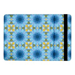 Blue Nice Daisy Flower Ang Yellow Squares Samsung Galaxy Tab Pro 10 1  Flip Case by MaryIllustrations