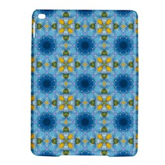 Blue Nice Daisy Flower Ang Yellow Squares Ipad Air 2 Hardshell Cases by MaryIllustrations