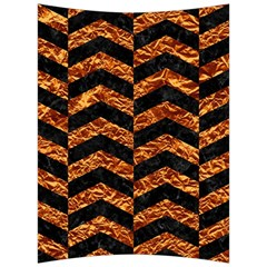 Chevron2 Black Marble & Copper Foil Back Support Cushion by trendistuff