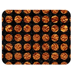 Circles1 Black Marble & Copper Foil Double Sided Flano Blanket (medium)