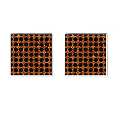 Circles1 Black Marble & Copper Foil (r) Cufflinks (square) by trendistuff