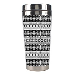 Fancy Tribal Border Pattern 17b Stainless Steel Travel Tumblers by MoreColorsinLife