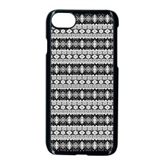 Fancy Tribal Border Pattern 17b Apple Iphone 7 Seamless Case (black) by MoreColorsinLife