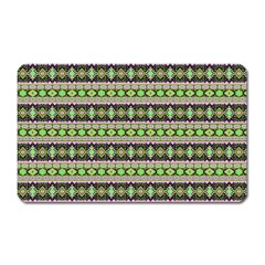 Fancy Tribal Border Pattern 17a Magnet (rectangular) by MoreColorsinLife