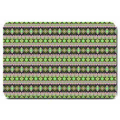 Fancy Tribal Border Pattern 17a Large Doormat  by MoreColorsinLife