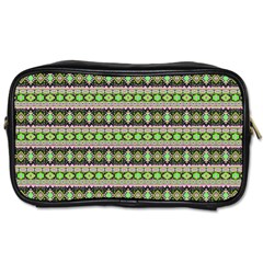 Fancy Tribal Border Pattern 17a Toiletries Bags by MoreColorsinLife