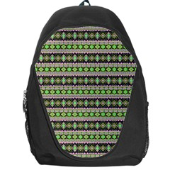 Fancy Tribal Border Pattern 17a Backpack Bag by MoreColorsinLife