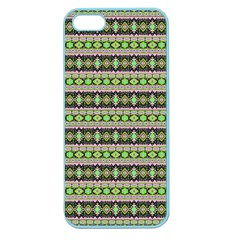 Fancy Tribal Border Pattern 17a Apple Seamless Iphone 5 Case (color) by MoreColorsinLife