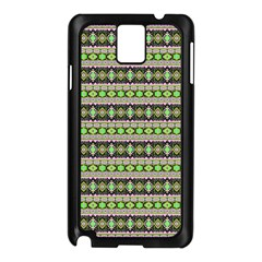 Fancy Tribal Border Pattern 17a Samsung Galaxy Note 3 N9005 Case (black) by MoreColorsinLife
