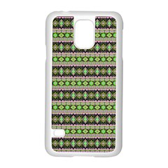 Fancy Tribal Border Pattern 17a Samsung Galaxy S5 Case (white) by MoreColorsinLife