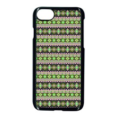 Fancy Tribal Border Pattern 17a Apple Iphone 7 Seamless Case (black) by MoreColorsinLife