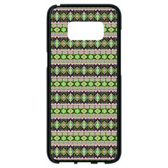 Fancy Tribal Border Pattern 17a Samsung Galaxy S8 Black Seamless Case by MoreColorsinLife