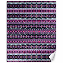 Fancy Tribal Border Pattern 17c Canvas 16  X 20   by MoreColorsinLife