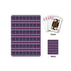 Fancy Tribal Border Pattern 17c Playing Cards (mini)  by MoreColorsinLife