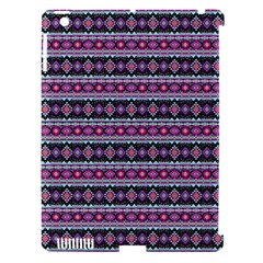 Fancy Tribal Border Pattern 17c Apple Ipad 3/4 Hardshell Case (compatible With Smart Cover) by MoreColorsinLife