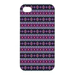 Fancy Tribal Border Pattern 17c Apple Iphone 4/4s Premium Hardshell Case by MoreColorsinLife