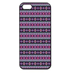 Fancy Tribal Border Pattern 17c Apple Iphone 5 Seamless Case (black) by MoreColorsinLife