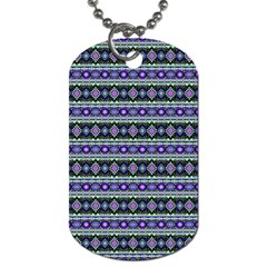 Fancy Tribal Border Pattern 17d Dog Tag (two Sides) by MoreColorsinLife