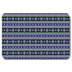 Fancy Tribal Border Pattern 17d Large Doormat  by MoreColorsinLife