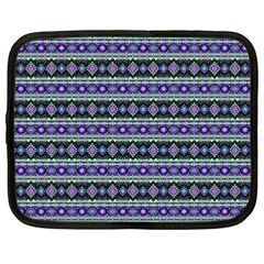 Fancy Tribal Border Pattern 17d Netbook Case (xxl)  by MoreColorsinLife