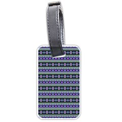 Fancy Tribal Border Pattern 17d Luggage Tags (two Sides) by MoreColorsinLife