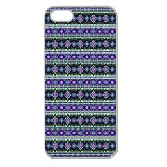Fancy Tribal Border Pattern 17d Apple Seamless Iphone 5 Case (clear) by MoreColorsinLife