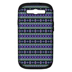 Fancy Tribal Border Pattern 17d Samsung Galaxy S Iii Hardshell Case (pc+silicone) by MoreColorsinLife
