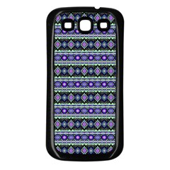 Fancy Tribal Border Pattern 17d Samsung Galaxy S3 Back Case (black) by MoreColorsinLife