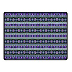 Fancy Tribal Border Pattern 17d Double Sided Fleece Blanket (small)  by MoreColorsinLife