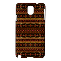 Fancy Tribal Border Pattern 17e Samsung Galaxy Note 3 N9005 Hardshell Case by MoreColorsinLife