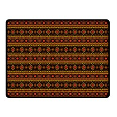 Fancy Tribal Border Pattern 17e Double Sided Fleece Blanket (small)  by MoreColorsinLife