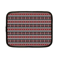 Fancy Tribal Border Pattern 17f Netbook Case (small)  by MoreColorsinLife