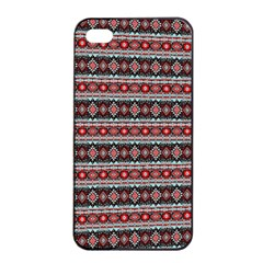 Fancy Tribal Border Pattern 17f Apple Iphone 4/4s Seamless Case (black) by MoreColorsinLife
