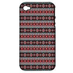 Fancy Tribal Border Pattern 17f Apple Iphone 4/4s Hardshell Case (pc+silicone) by MoreColorsinLife