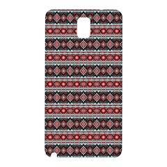 Fancy Tribal Border Pattern 17f Samsung Galaxy Note 3 N9005 Hardshell Back Case by MoreColorsinLife