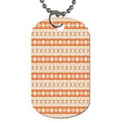 Fancy Tribal Border Pattern 17i Dog Tag (two Sides) by MoreColorsinLife