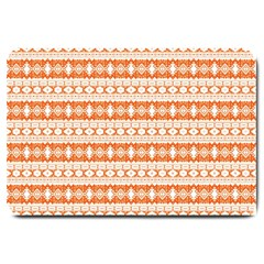 Fancy Tribal Border Pattern 17i Large Doormat  by MoreColorsinLife