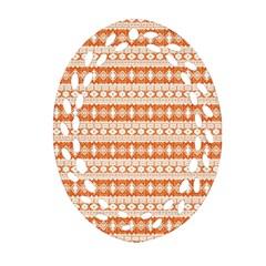 Fancy Tribal Border Pattern 17i Ornament (oval Filigree) by MoreColorsinLife